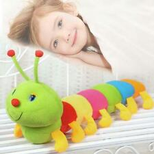 Colorful Inchworm Soft Lovely Caterpillar Pillow Plush Developmental Baby Toy AD