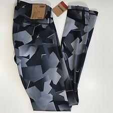 Reebok Womens Skinny Tights Gym Yoga Pants Training Fitness Bottoms Gray Black L