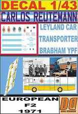 DECAL 1/43 LEYLAND CAR TRANSPORTER BRABHAM YPF REUTEMANN F2 TEAM 1971 (07)