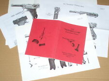 Luger  P-08  --  parabellum  -- Auto Pistol  --  PARTS LIST & MANUAL