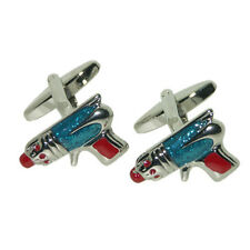 Retro Sci Fi Ray Gun Cufflinks Robot Fiction Story Writer Present Gift Box