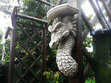 (NEW) HOME & GARDEN STONE DRAGON SHELF ~STONE ORNAMENTS~ BESPOKE STONE DETAILED