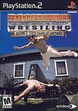 Sony Playstation 2 PS2 Game DIsc BACKYARD WRESTLING DON'T TRY THIS AT HOME