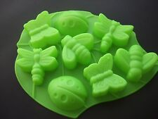 Silicone Mould- Bug Insect Tray- Ladybird, Bee, Butterfly,Baking Tin/ Cake Pan