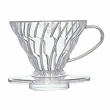 Hario V60 01 plastic coffee dripper perfect for travel manual - clear color