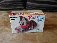 Vintage Wind Up Puzzle Cat Made in Japan Toy Works Fine. W/Box