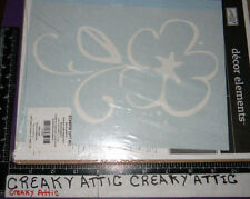 STAMPIN UP FLOWER FINESSE DECOR ELEMENTS STENCILS WHITE DECAL PAPER WALL