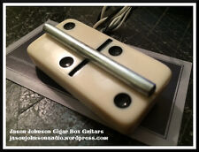 White Domino Cigar Box Guitar Bridge - With Embedded Pickup!