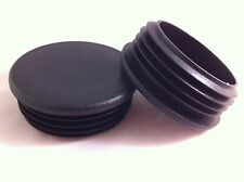4 Black Plastic Blanking End Caps Cap Round Tube Pipe Plug Bung Inserts 70mm