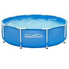 """Summer Waves 10' x 30"""" Round Metal Frame Above Ground Swimming Pool"""