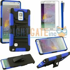 Blue&Black Combo Kickstand case with Holster and Belt clip For Samsung