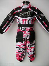 NEW AGE 9-10 PINK WULFSPORT GIRL KIDS OFF ROAD OUTDOOR PLAY SUIT QUAD OVERALLS