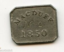 MacDuff Communion Church Token 1850  Number 2