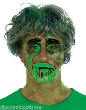 TRANSPARENT MALE BIOHAZARD ZOMBIE MASK COSTUME ACCESSORY FUN@HALLOWEEN