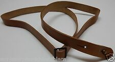 "Vintage Natural Tanned Leather Rifle Sling adjustable 58""L x 15/16""W each E8825"