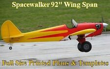"Spacewalker 92"" WS 1/4 Scale RC Airplane Full Size PRINTED Plans & Templates"