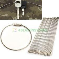 Outdoor Using 20PCS Stainless Steel Wire Keychain Cable Key Ring 150mm/5.9inch