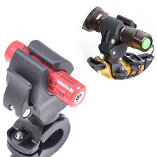 Torch Clip Mount Bicycle Front Light Bracket Flashlight Holder 360°Rotation