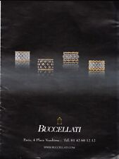 BUCCELLATI  Pub de Magazine .Magazine advertisement. 2012. page papier