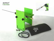 MODEL AIRPLANE RC ENGINES FUEL TANK & THROTTLE CABLE STAND ~ SAFTEY GREEN