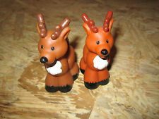 fisher price little people reindeer Christmas holiday Noah's ARK Pair Deer Two
