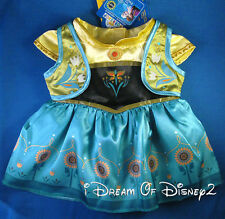 ANNA FROZEN FEVER DRESS BUILD-A-BEAR DISNEY TEDDY SIZE CLOTHES COSTUME NEW