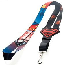 DC COMICS SUPERMAN ALL OVER RUBBER SYMBOL LANYARD (BRAND NEW)
