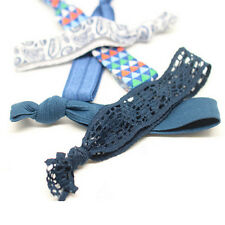 10X Pattern Colorful No Crease Hair Style maker Ties Ponytail Bracelets Rope
