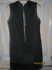NWOT SimplyVera by Vera Wang Sophisticated Black Dress w/ Exposed Back Zipper 12