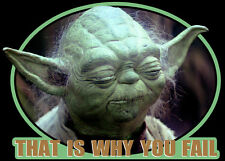"80s Classic Star Wars Empire Strikes Back Yoda ""That Is Why You Fail"" custom tee"