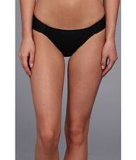 L SPACE FLUTTER BYE FOXY TAB SIDE SWIM BIKINI BOTTOMS PANTS BLACK SMALL NEW $61