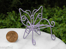 Miniature Dollhouse FAIRY GARDEN Furniture ~ Micro Mini Lavender Butterfly Chair