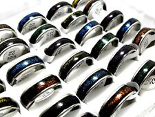 12pcs Star Beautiful Stainless Steel Band Ring Men Women Wholesale Jewelry Lots