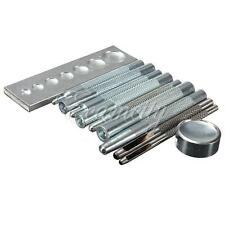 11 PCS Craft tool Die Punch Rivet Setter Base Kit Set for DIY Leathercraft Metal