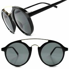 Old Indie Vintage Retro Hip Fashion Black Mens Womens Circle Round Sunglasses