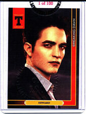 Twilight Edward Cullen Embossed Card ~ V rare - New ~ Ltd to 100