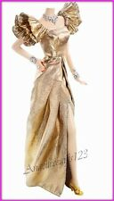 Complete gold Dynasty evening gown fits silkstone royalty and Barbie