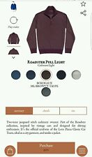 $850 LORO PIANA 100% Cashmere Roadster Pull 1/2 Zip Sweater Size 58 Euro 2XL
