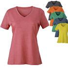 James & Nicholson Damen V-Neck Kurzarm V-Ausschnitt T-Shirt S - XXL