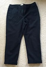 CHICO'S So Slimming Stretch Crop Capri Cuffed Pants Black Sz 1.5 Medium (10)