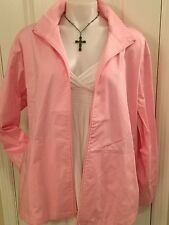 Taffords Solid PINK Scrub uniform top jacket size x-Large X-LG XL