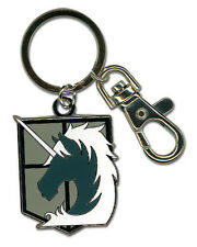 **License** Attack on Titan Military Police Emblem Metal Keychain #36797