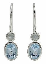 925 Pure Silver Beautiful BLUE TOPAZ Gemstone Dangle Earring Fashion Jewelry