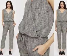 XL Eileen Fisher, Fisher Project Stone Sleeveless Silk Animal Print Jumpsuit NWT