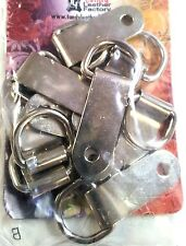 """10 Pack of 5/8"""" CLIPS & DEE RINGS 1120-02 Tandy Leather Strap Steel Dees Ring"""