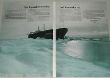 1970 ESSO oil 2 page advertisement, S. S. Manhattan, Ice-breaker Oil tanker test