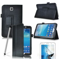 Protective Leather Case Flip Stand For Samsung Galaxy Tab 3V 7 Inch – Black.