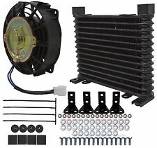 "External aluminum automatic transmission fluid oil cooler with 7"" Electric fan"