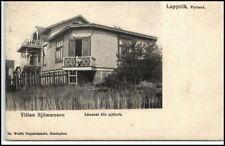 Suomi ~1900 Litho-AK LAPPVIK Villan Sjömansro Ejöfolk Vintage Postcard