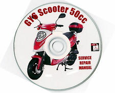 Chinese Scooter 50cc GY6 Service Repair Shop Manual on CD Jinlun MADAMI VIP QMJ